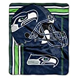 Officially Licensed NFL Seattle Seahawks 'Touchback' Plush Raschel Throw Blanket, 50' x 60', Multi Color