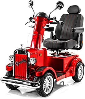 Gatsby Vintage Full Size Fast Mobility Scooter Long Range (Red) - Limited Edition!