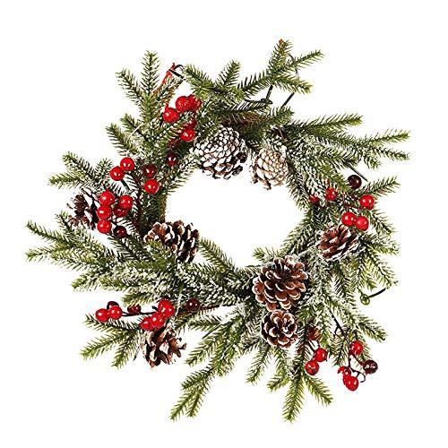 Lemoning Decoration & Hangs, 40Cm Christmas Door Decoration Wreath Holiday Window Decoration Ornaments