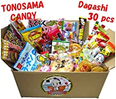 Japanese candy assortment 30pcs , Full of dagashi. TONOSAMA CANDY Box