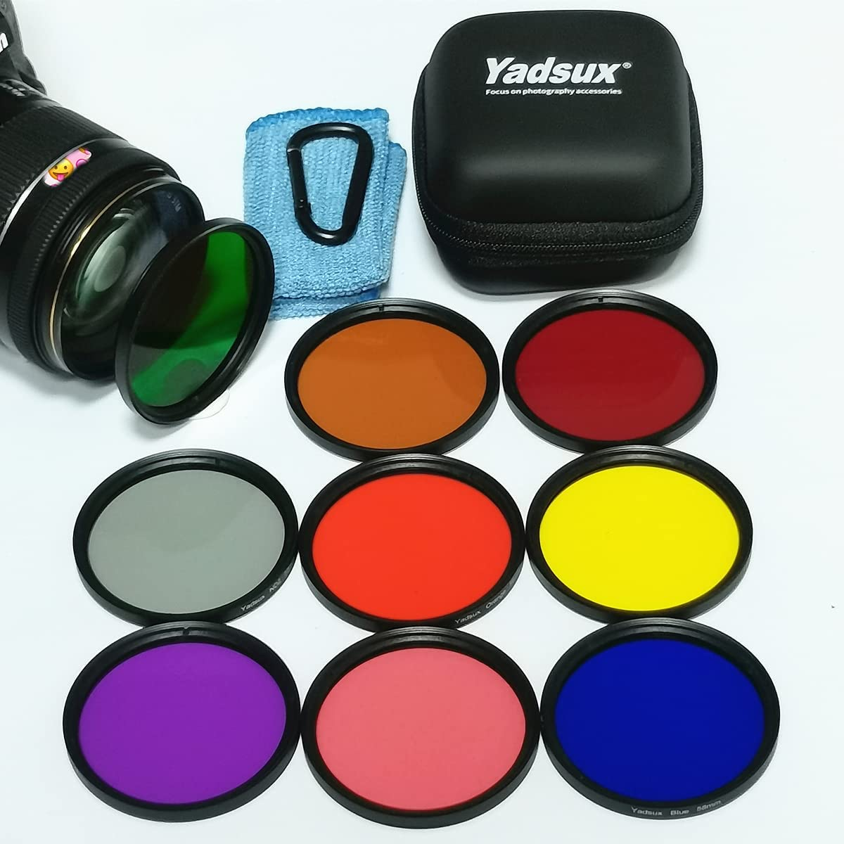 Yadsux 62mm Color Filter Kit, Including Red, Orange, Blue, Yello