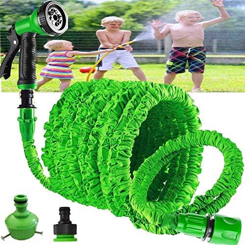 YUJIAN 75FT Expanding Lawn Sprinkler Anti-Leakage Garden Water Hose Pipe with Spray Gun to Watering Car Wash Spray Cleaning & Car Washing