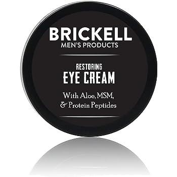 Brickell Men's Products – Crema para Ojos Reparadora para Hombres – Bálsamo para Contorno de Ojos Antiedad Natural y Orgánico – 15 ml