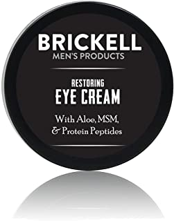 Brickell Men's Restoring Eye Cream for Men, Natural and Organic Anti Aging Eye Balm..