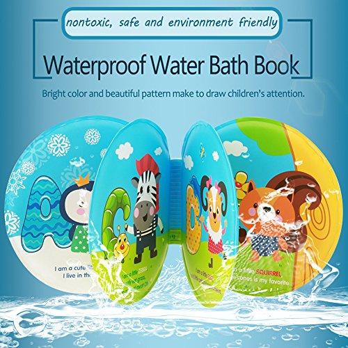 zerodis Bath Time Buch, bunt, wasserdichtes Baby Dusche Wasser weich Muster Badebuch Animal Zoo Play Schwimmen Badezimmer Early Educational Lernen Spielzeug mit BB Sound