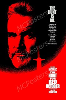MCPosters The Hunt For Red October Sean Connery GLOSSY FINISH Movie Poster - MCP387 (24