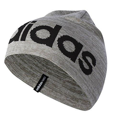 adidas Damen Neo Logo Beanie Hat S Grey/Brebas
