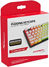 HyperX Pudding Keycaps - Double Shot PBT Keycap Set with Translucent Layer, for Mechanical Keyboards, Full 104 Key Set, OE...