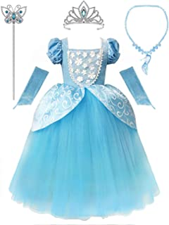 Girls Princess Dress Fancy Costume Role Play Ball Gown Halloween Party Dress up