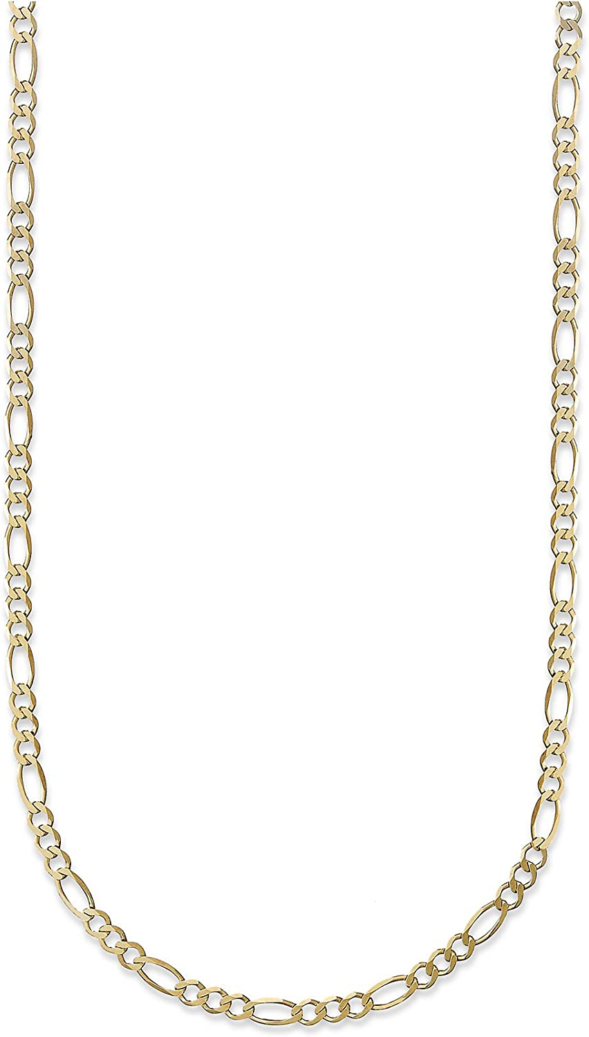 18 Karat Solid Yellow Gold Max 75% OFF 2.5mm Figaro 3+ Chain Link Popular Necklace -