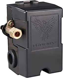 Phoenix 69MB9LY 135/175 PSI 1-Port Air Compressor Switch w/ Unloader Valve & Auto/Off (Furnas type)