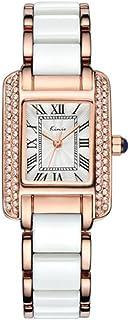ساعات KIMIO النسائية العصرية الفاخرة الكوارتز ساعة اليد العادي للسيدات ساعة اللباس الأزرق المرأة