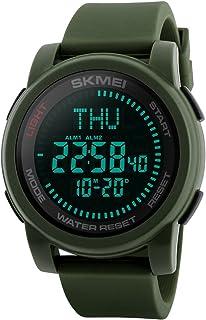 Compass Sport Watch, Farsler 50M Waterproof World Time Alarm Clock Luminous Digital Sports Watch