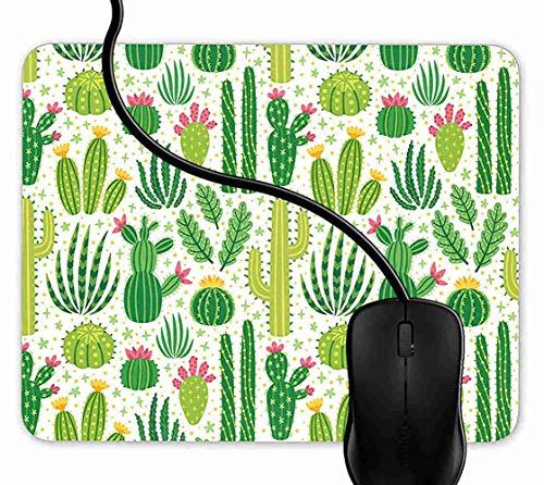 SGSKJ Alfombrilla de Ratón para Gaming de Alfombrilla de Cuadrado Mouse Pad Plantas de Cactus Fresco Soporte para Ordenador, PC y Portátil 1F1741