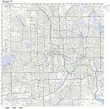 Minneapolis, MN ZIP Code Map Laminated