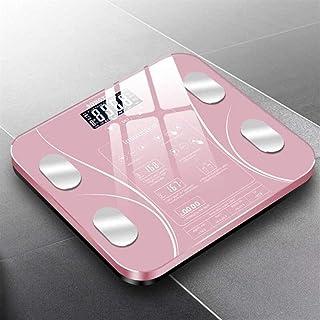 UYZ Báscula de Peso Digital Profesional Báscula Inteligente de Grasa Corporal Báscula de pesaje de Piso para el hogar Composición de conexión Báscula de Peso Báscula de baño Duradera (Color: Typ