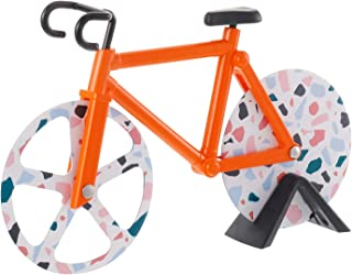 metagio Roulette à Pizza Vélo en Aicer Inoxydable Coupe-Pizza Drôle Créative Rouleau Double Couteau Pizza Lavable avec Cad...