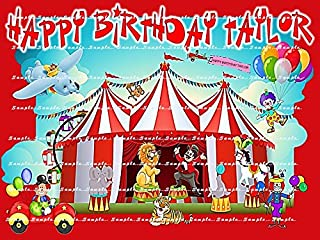 CLOWNS CARNIVAL FAIR CIRCUS : Personalized edible image Birthday Party Cake topper decoration premium frosting sheets