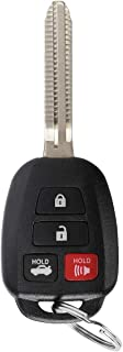 YITAMOTOR Key Fob Compatible for 2015-2017 Toyota Camry & 2014-2017 Toyota Corolla Car Keyless Entry Remote for HYQ12BDM HYQ12BEL with H Chip