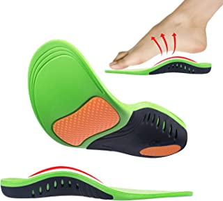 Arch Support Orthotic Shoes Insoles (2 Pairs) Relieve Plantar Fasciitis Flat Feet High Arch Foot Heel Spurs Pain Professional Shock Absorption for Men & Women & Kids