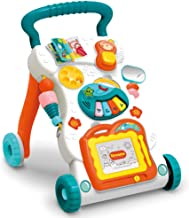 CISAY Sit-to-Stand Learning Walker,Educational Push Toy for Babies,Artboard, Lighting and Music, Baby Music Toy Set-Kids E...