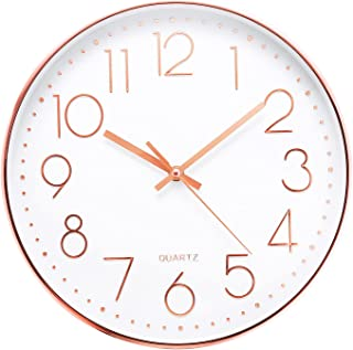 Jeteveven 30cm Horloge Pendule Mural, Horloge Murale à Quartz, Horloge Silencieuse sans de Bruit avec Chiffres Surdimensio...