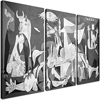 Yatsen Bridge Picasso Guernica Art Picture Canvas Wall Art Print Paintings Waterproof Artwork Modern Artwork for Living Room Wall Decor and Home Décor Framed Ready to Hang (60''W x 40''H)