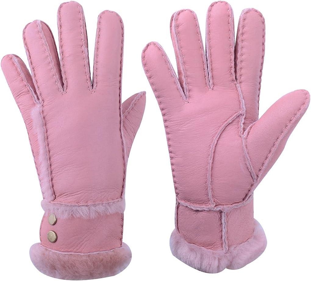 Furoom Womens Genuine Sheepskin Glove T Back Style