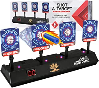 Electronic Shooting Target for Nerf Guns - Auto Reset Digital Scoring Shooting Practice 4 Targets, Ideal Gifts Toys for 5...