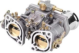 Qiilu Carb Carburetor Engine with 2 Gasket for Bug Beetle Fiat Porsche Weber 40 IDF