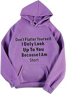 Women Hoodies Sweatshirt Coat, Ladies Letter Printed Long Sleeve Pullover T-shirt Tops