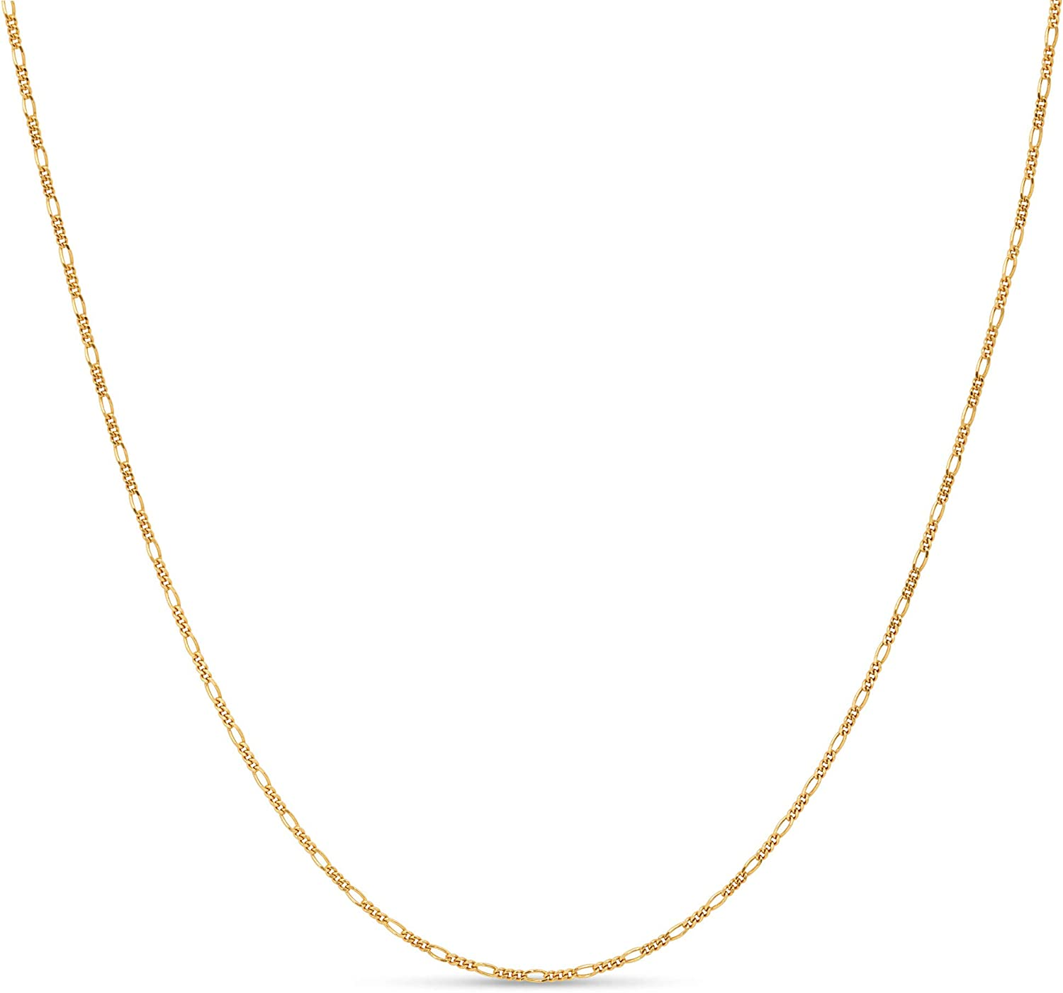 Kezef Creations Sterling Silver Italian Figaro Chain 1.5mm for M
