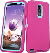 LG Stylo 4 Plus Case, Hybrid High Impact Resistant Rugged Full-Body Shockproof Tri-Layer Heavy Duty Case with Built-in Screen Protector for LG Stylo 4/ LG Stylo 4 Plus (Pink)