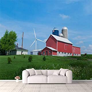 Modern 3D PVC Design Removable Wallpaper for Bedroom Living Room Family farm and wind turbine Wallpaper Stick and Peel Wal...