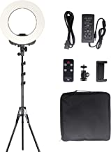 GEEKOTO 14 inches LED Ring Light with Stand Phone Holder Remote Control, Outer Lighting Kit 38W, 3200K-5500K for Video Shooting Makeup Photography