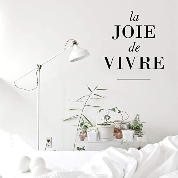 Vinyl Wall Art Decal La Joie De Vivre 23 X 20 Happy Joyful Life French Quote For Home Living Room Bedroom Sticker Decor Peel And Stick Apartment Work Office Adhesive Decals