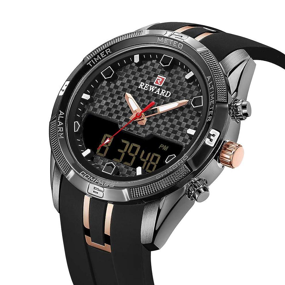 バイアス翻訳するクマノミ防水メンズ腕時計、クロノグラフ30Mライフ防水ステンレススチールアナログクォーツ時計メンズビジネスカジュアルウォッチ。