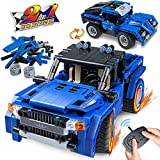 Kidpal STEM Building Toys for 6-12 Year Old Boys, 2-in-1 Technic Remote Control Car Building Kits for Kids 8-12, Erector Set Pickup Truck Build Set Model for 6 7 8 9 11 12+ Years Old Boys Girls