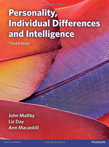 Personality, Individual Differences and Intelligence