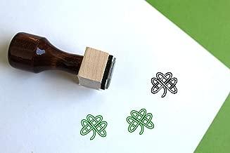 Celtic Shamrock Wooden Rubber Stamp (1