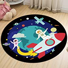 Non-Slip Carpet Bedroom Living Room Balcony Bay Window Pad Flannel Round Moisture-Proof for Adults and Children Rugs,1,80cm