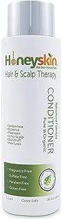 Hair Regrowth Conditioner Aloe Vera - Coconut Oil, Manuka Honey - Scalp Eczema, Psoriasis, Seborrheic Dermatitis Remedy - Itchy Dry, Hair Loss Treatment (16oz)