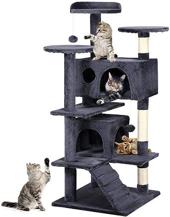 Yaheetech Cat Scratching Post Tower Tree Pet Palace Cat Palace (Grey)