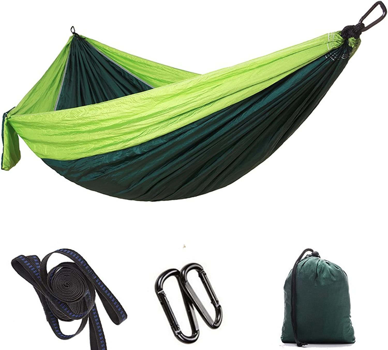 Single & Double Camping HammockPortable Parachute Hammock for Outdoor Hiking Travel Backpacking  Hammock Swing