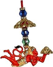 SM JAIN Swarnim Jewellers Flying Lord Hanuman Idol for Car Hanging (Orange)