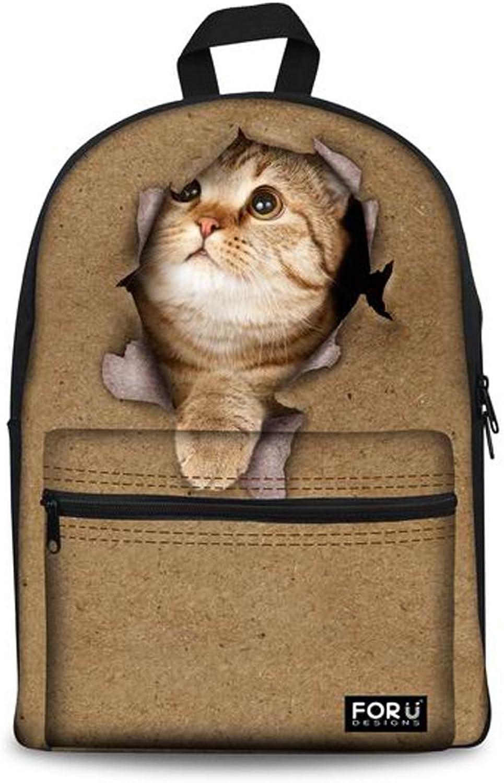 Für U Designs Cute Animal Cat Dog Kinder Schule Rucksack Kinder Schultasche für Mädchen Jungen B011KX4F6K | Grüne, neue Technologie