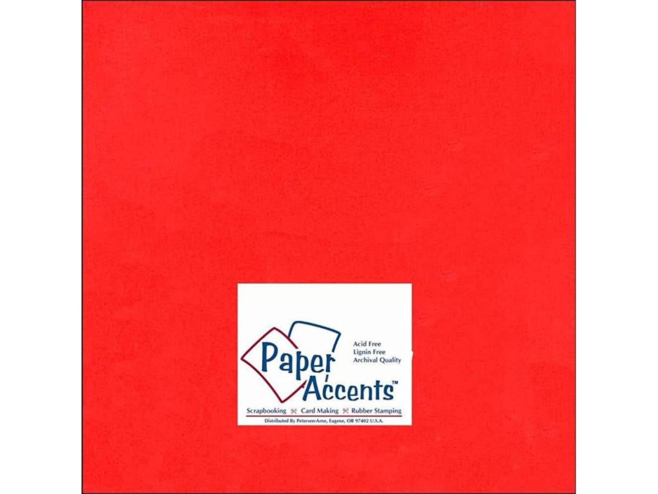 Accent Design Paper Accents Cdstk Smooth 12x12 65# Red