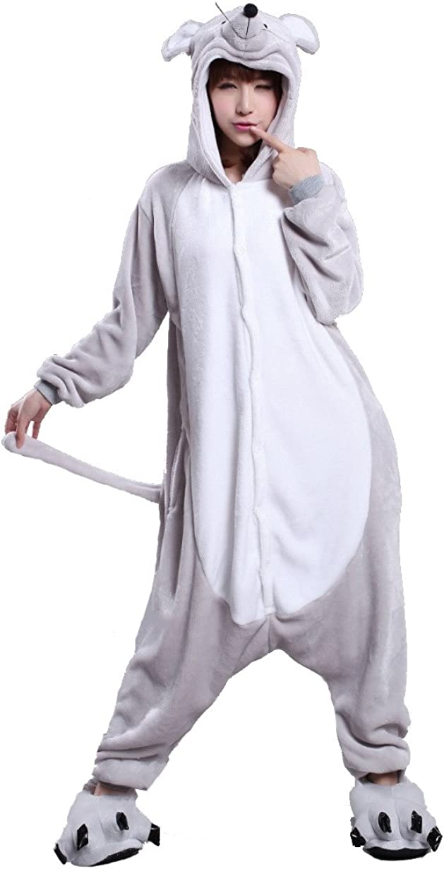 Inventory cleanup selling sale ALOVEY Unisex Mouse Animal One C New popularity Costume Sleepwear Piece Pajamas