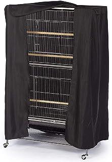 MNJM - Funda para jaula de pájaros (tamaño grande), color negro