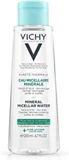 Vichy Pureté Thermale Mineral Micellar Cleansing Water, Makeup Remover & Facial Cleanser with Salicylic Acid for Combination to Oily Skin, 6.76 Fl. Oz